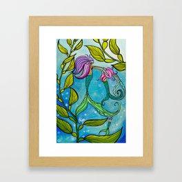 Mermaid Mama Ocean Art by Lauren Tannehill Art Framed Art Print