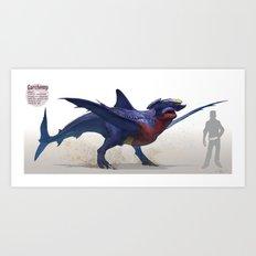 Pokemon-Garchomp Art Print