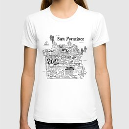 San Francisco Map Illustration T-shirt