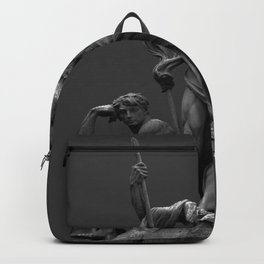 Statue Man on rock Backpack
