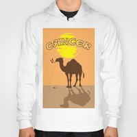 cancer Hoodies featuring Cancer by Tony Vazquez