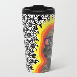 Sculture Wearing Wacky Marble Glasses Travel Mug