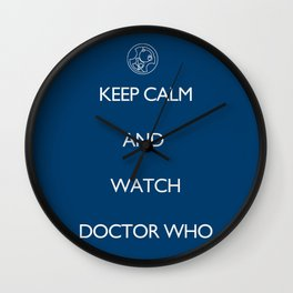 KEEP CALM and watch Doctor Who Wall Clock