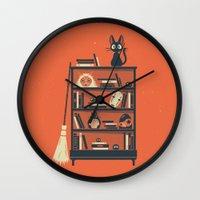 miyazaki Wall Clocks featuring Ghibli Shelf // Miyazaki by Daniel Mackey