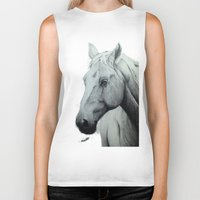 horse Biker Tanks featuring Horse by Chris Knight