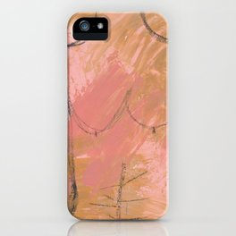 Nude Abstract Couple: His iPhone Case