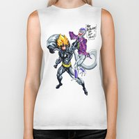dbz Biker Tanks featuring DBZ why so serious by Unic art