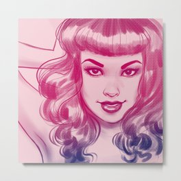 In The Pink Metal Print