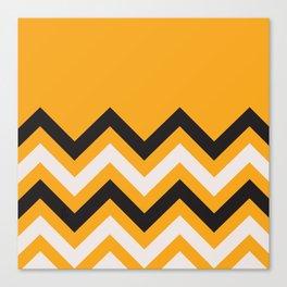 Orange Zigzag Canvas Print