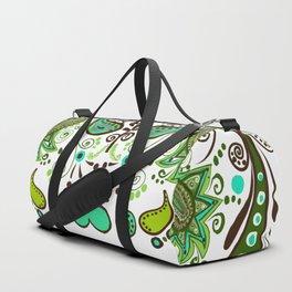 Chocolate Mint Paisley Duffle Bag