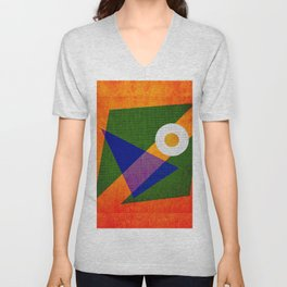 Abstract pattern Contemporary Unisex V-Neck