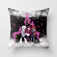 monster high Throw Pillows featuring Monster High by Joshua Epling