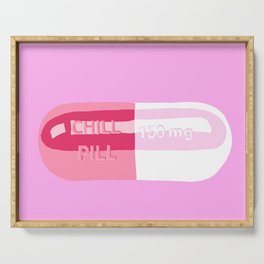 Chill Pill Pink Serving Tray