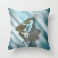 jack frost Throw Pillows featuring Jack Frost by @Milre_art