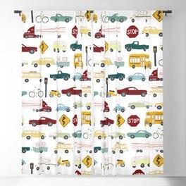 Beep Beep! Cars and Trucks Traffic Pattern Blackout Curtain