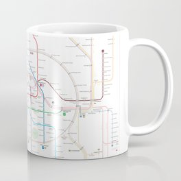 Germany Berlin Metro Bus U-bahn S-bahn map Coffee Mug