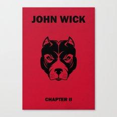 John Wick Chapter 2 Alternative Poster Canvas Print