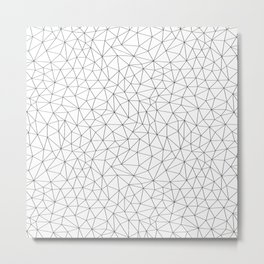 Low Pol Mesh (positive) Metal Print