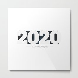 Happy new year 2020 Metal Print