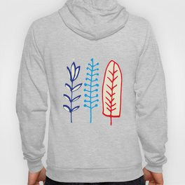 Fall and winter leaves gray Hoody