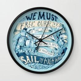 Learn to Sail Wall Clock