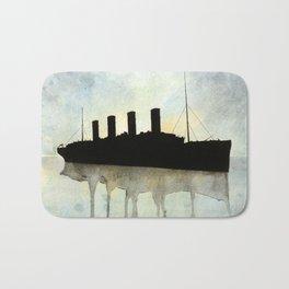 Titanic watercolour Bath Mat