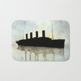 Titanic watercolour Bath Mat