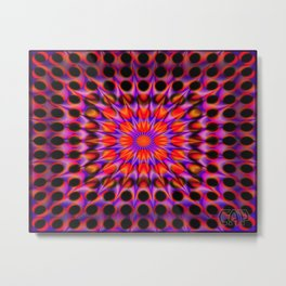 Warp Flow #1 Psychedelic Optical Illusion Trippy Moving Zooming Design Metal Print