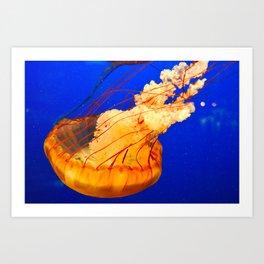 JellyFishing Art Print