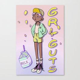 GRLGUTS GYMGUTS Canvas Print
