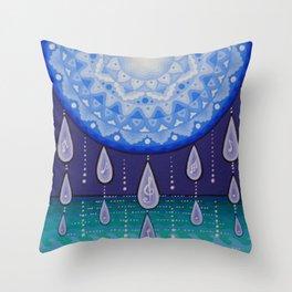 Moonlight Sonata Mandala Throw Pillow
