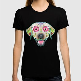 Labrador Retriever - Yellow Lab - Day of the Dead Sugar Skull Dog T-shirt
