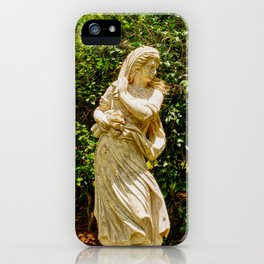 Lady in the garden iPhone Case