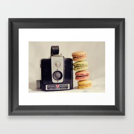 A Brownie and some macarons Framed Art Print