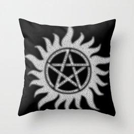 Carry On Supernatural Pentacle Throw Pillow
