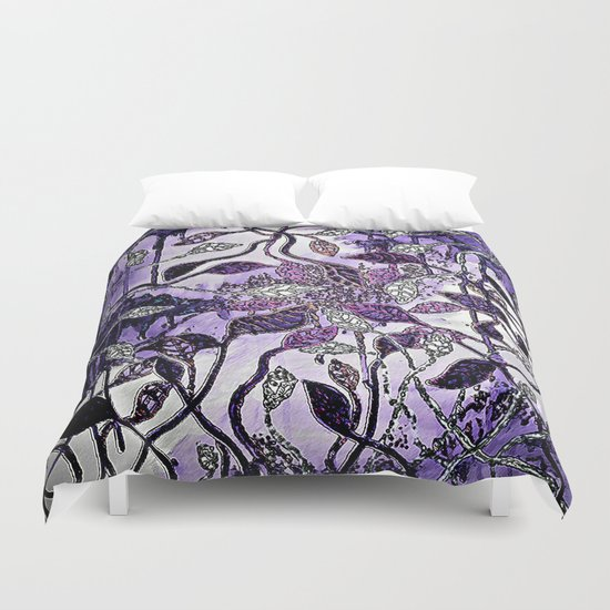 Interlaced Leaves Duvet Cover