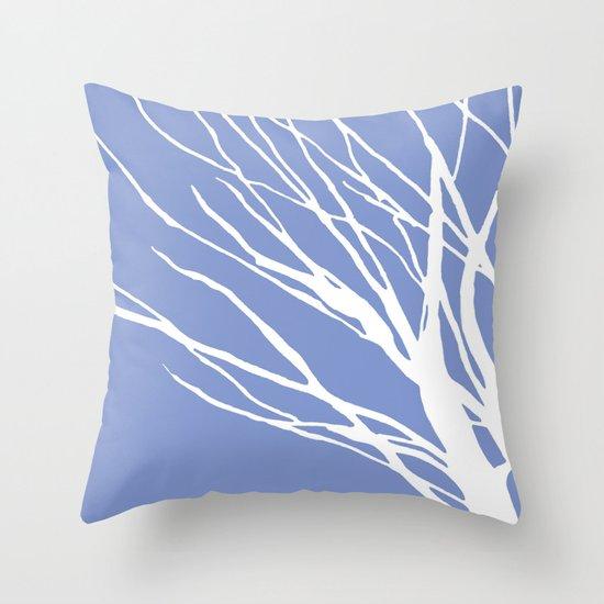 Periwinkle Blues Throw Pillow