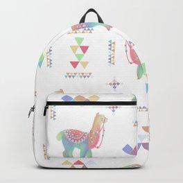 Colorful Alpaca Backpack