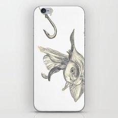 fishing in the fish tank iPhone & iPod Skin
