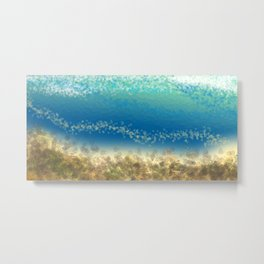 Abstract Seascape 04 wc Metal Print