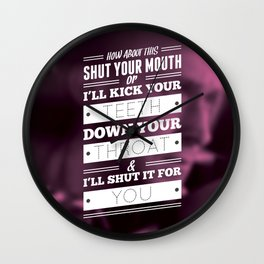 """""""DRIVE"""" Typography Poster Wall Clock"""