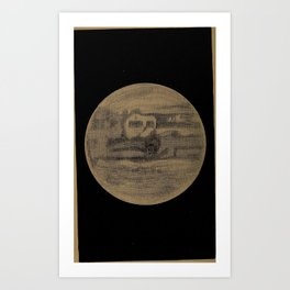 Astronomy for High Schools and Colleges (1881) - The Planet Jupiter Art Print