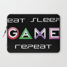 Eat, Sleep, Game, Repeat Laptop Sleeve