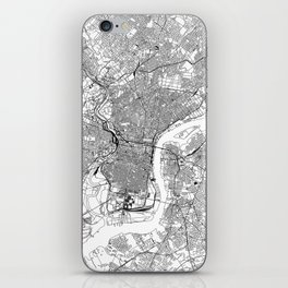 Philadelphia White Map iPhone Skin