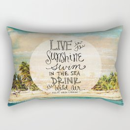 Live In The Sunshine - Photo Inspiration Rectangular Pillow
