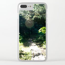 Alaska Sunlight Path Clear iPhone Case