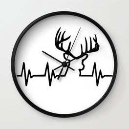 Heartbeat deer hunting for real hunter Wall Clock