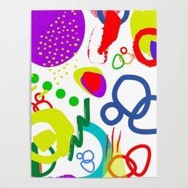 Bright kaleidoscope Poster
