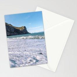 Seascape wall art sea horizon winter sea beach art print Stationery Cards