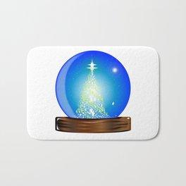 Christmas Globe Tree Bath Mat